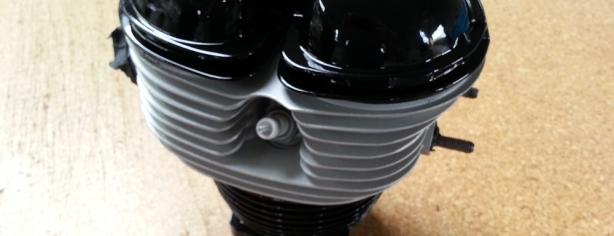 Auspuff und Motor Pulverbeschichten